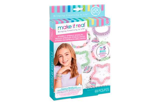 Make it Real: Набор для создания шарм-браслетов «Блестящие спиральки»