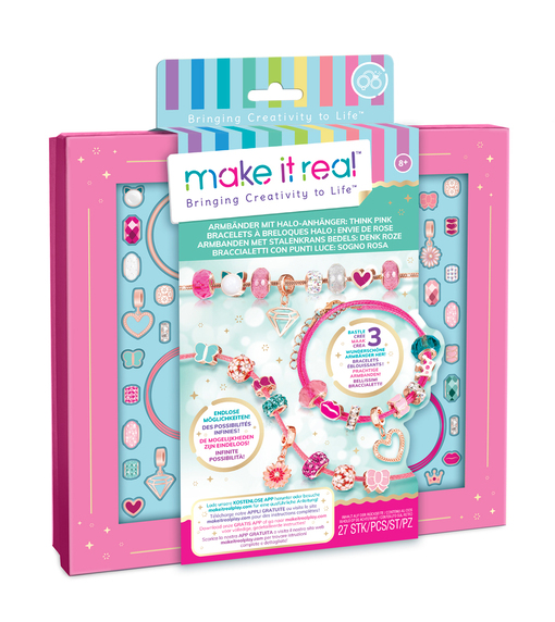 Make it Real: Набор для создания браслетов «Розовое сияние»