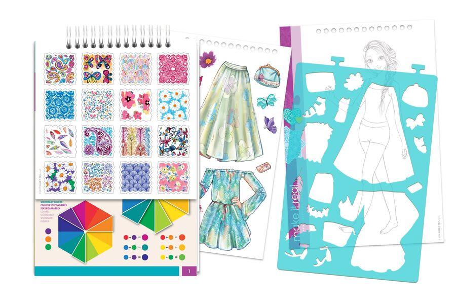 """Make it Real: Блокнот c трафаретами для создания модных коллекций """"Цветочная фантазия"""""""