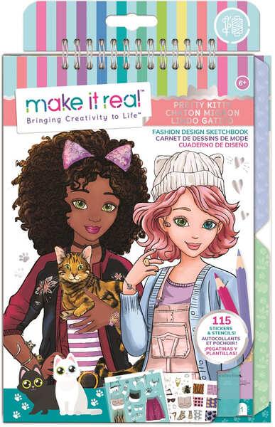 Make it Real: Блокнот с трафаретами для создания модных коллекций «Милая кошечка»