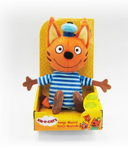 Три кота: мягкая игрушка Коржик со звуковыми эффектами