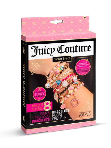 Juicy Couture: Мини-набор для создания браслетов с кристаллами Swarovski «Розовый звездопад»