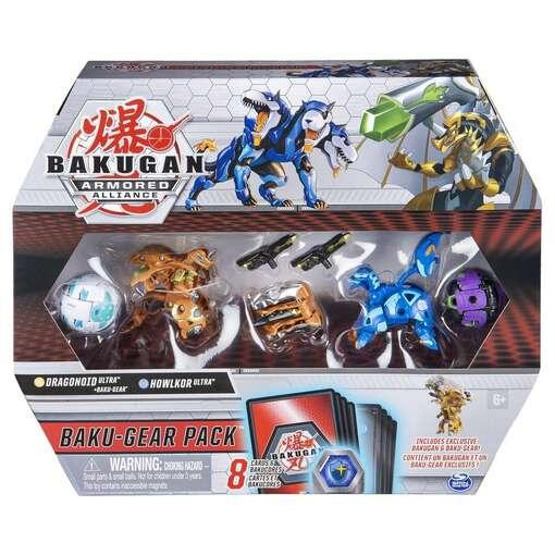 Bakugan Armored Alliance: Боевой набор из четырех бакуганов с оружием (Драгоноид и Холкор)