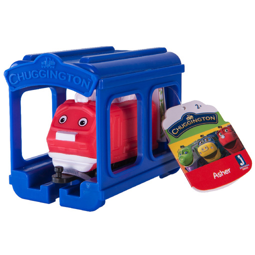 CHUGGINGTON Паровозик Ашер с гаражом