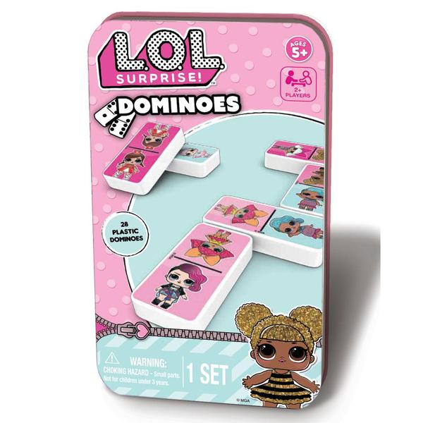 Настольная игра домино «L.O.L. Surprise» в жестяной коробке