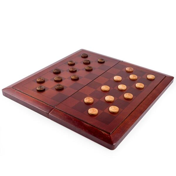 """Набор из двух настольных игр """"Шахматы и шашки"""""""