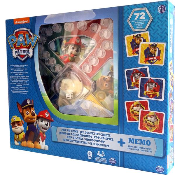 """Набор из двух настольных игр """"Щенячий патруль"""": игра с кнопкой и мемори (Уценка)"""