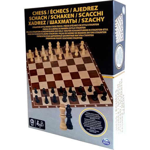 """Настольная игра """"Шахматы"""" (деревянные фигуры) (Уценка)"""