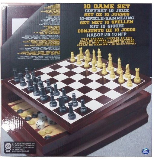 Набор из 10 классических игр (в деревянной коробке)