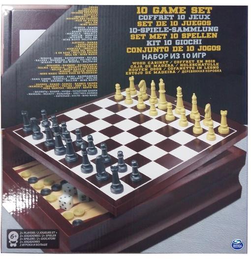 Набор из 10 классических игр (в деревянной коробке) (Уценка)