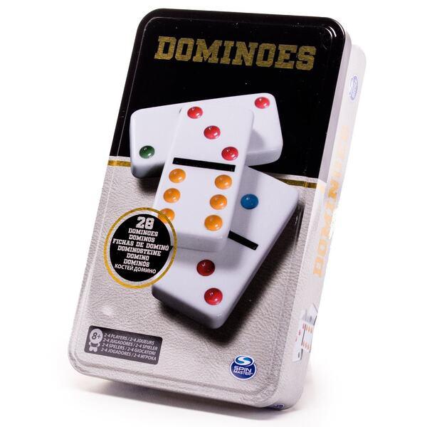 Настольная игра «Домино цветное» (в жестяной коробке)
