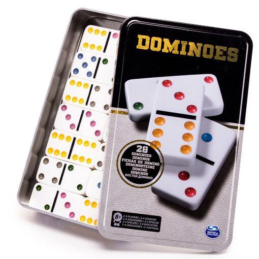 Настольная игра «Домино цветное» (в жестяной коробке)    (Уценка)