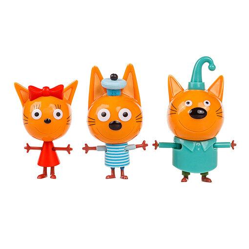 Три кота: игровой набор Коржик, Карамелька и Компот (Уценка)