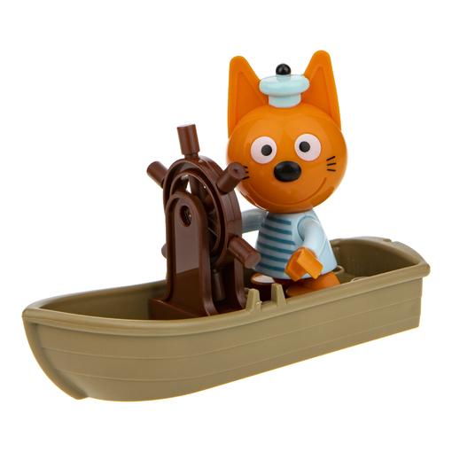 Три кота: игровой набор-конструктор Коржик с корабликом