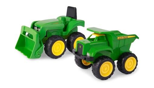 John Deere: набор с мини трактора с ковшем и самосвалом