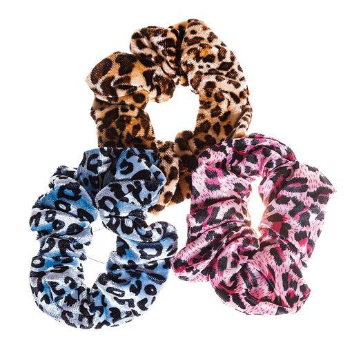 Резинки для волос SCRUNCHIES Леопардовый принт