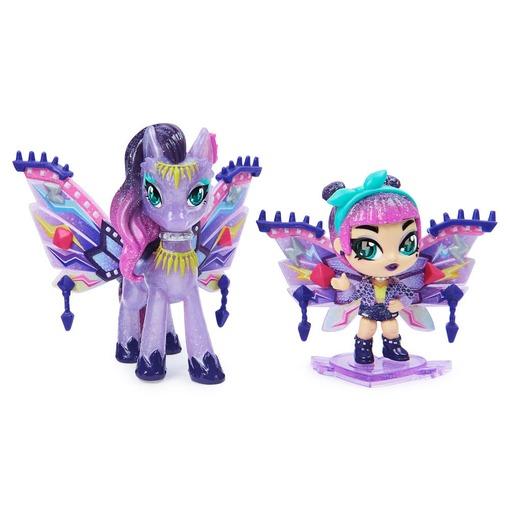 Игровой набор из феи Мел и сказочного персонажа Hatchimals Pixies Дикие крылья