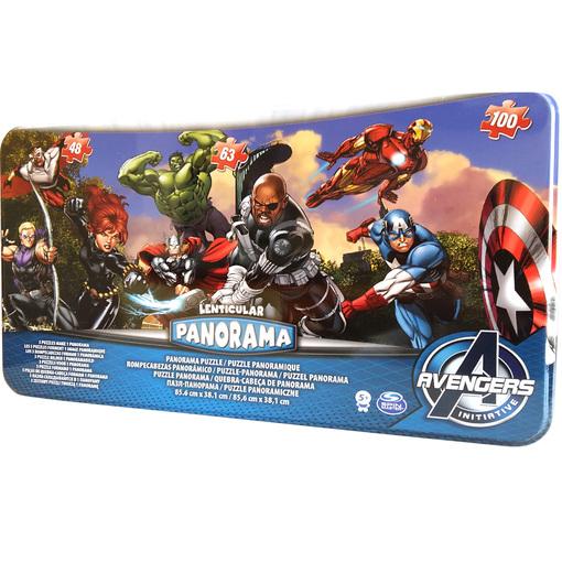 Пазл Панорама 3 в 1 «Мстители» (в жестяной коробке) (Уценка)